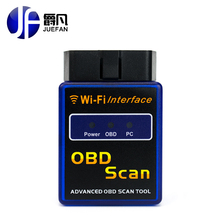 2017 Top Quality New Version Elm327 WIFI Scanner Diagnostic Tool OBD2 Wifi Elm 327 Scanner Wireless Elm327 China Support All IOS(China)
