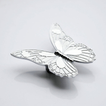 Modern Silver Butterfly Knob Box Furniture Chest Drawer Pull Handle wardrobe cabinet furniture hardware accessories