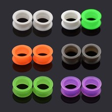 6Pair Large Flare Soft Silicone Earring Skins Ear Gauges Ring Soft Plugs Tunnels for Women Man Body Piercing Jewelry In Stock