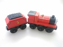 wooden Thomas and friend train Chinldren child kids plastic toys JAMES WITH TRUCK