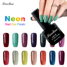 Saroline 2017 3D glitter Colorful Neon Nail Gel Polish Soak Off UV Art For gel nail polish Long-lasting Nail Art Gel Varnish