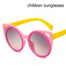 newest baby sun glasses lovely cat eye kids sunglasses Girls goggles colourful Vintage Kids Sunglasses  High  Quality Sunglasses