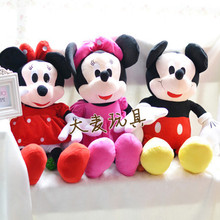 Hot  Free Shipping 1pcs/lot American Lovely Couple Mickey Mouse And Minnie Mouse Stuffed animals plush Toys,28\35\48\65\95\120cm