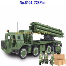 Winner 8104 726pcs Military Series Automatic Rocket Gun Building Block Brick Toy