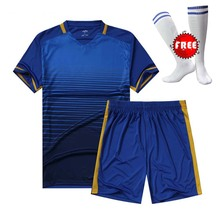 FREE SOCKS Soccer Jerseys Men Survetement Football Kits Thai Quality Team Training Painless Custom Sportswear Pockets on Bottoms