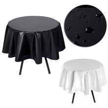 Modern Polyester Round Table Cloth Fabric  Hotel Party Wedding Tablecloth Dining and Coffee Table Cloth