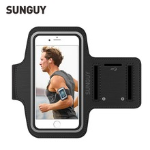 SUNGUY Sports Armband Case for iPhone 5s 6s 7 8 Plus Bag Running Sports Sleeve Mobile Phone Reflective Bracelet Fitness Armband(China)