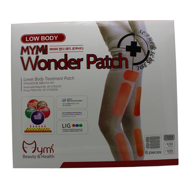 18pcs/pack MYMI Wonder Slimming Patch For Leg Body Slim Patch Weight Loss Fat burners Belly Patch Products Fat Abdomen Slimming(China (Mainland))