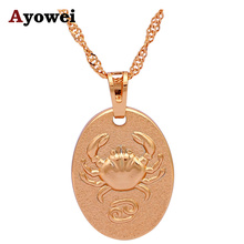 Special Gifts Cancer 12 Constellation Design gold tone Wholesale & Retail Fashion Jewelry Necklaces & Pendants LN539A