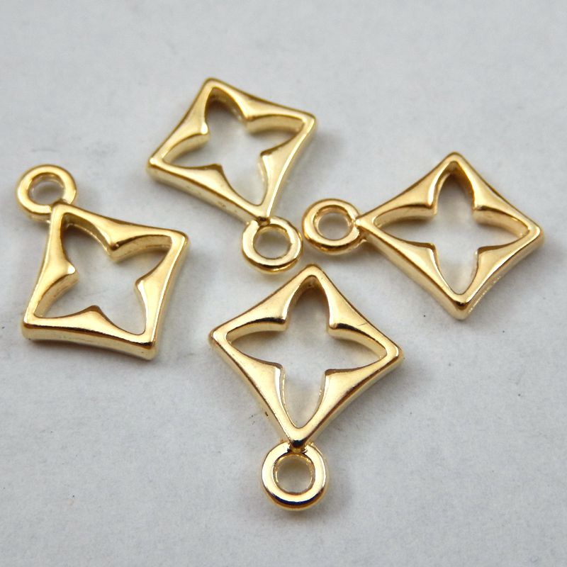 20pcs/pack Gold Alloy Cross Charms Necklace Pendant Fashion Jewelry Making Handmade Bracelet Charms Dec Crafts 11*2*15mm 39730