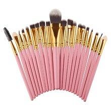 pincel. 20 pcs makeup brushes set kosmetik pincel maquiagem eyeshadow paleta de sombra highlighter bedak padat lip kit cl6
