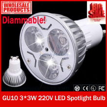Zk10 LED GU10 9W Dimmable Bulb White/Warm White LED Lamp Bulb Spotlight LED Spot Light Free Shipping(China)