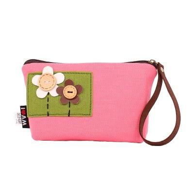 New Women Wallet canvas lovely flower Hit Color Zipper Phone Magic Wallet Credit card storage wallet<br><br>Aliexpress