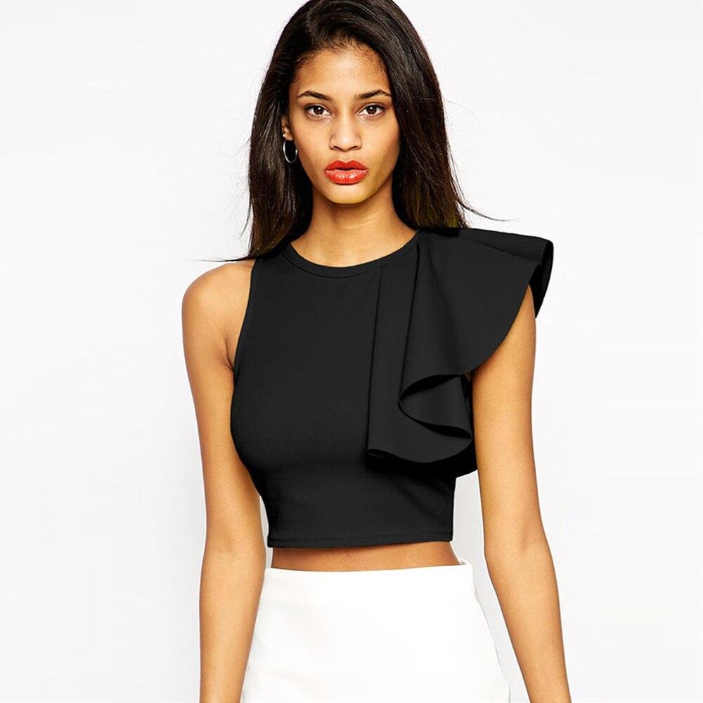 Блуза с открытыми плечами и воланом своими руками Дизайнерская одежда 27