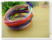 100 piece per lot 10mm Headbands Satin Headbands Children Headbands hair band  20 Colors Free Shipping