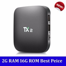 TX2 R2 2GB 16GB Smart TV Box Android 6.0 ARM Cortex-A7 RK3229 2.4GHz WiFi BT 2.0 Media Player Support HDMI LAN USB PK X92 X96(China)