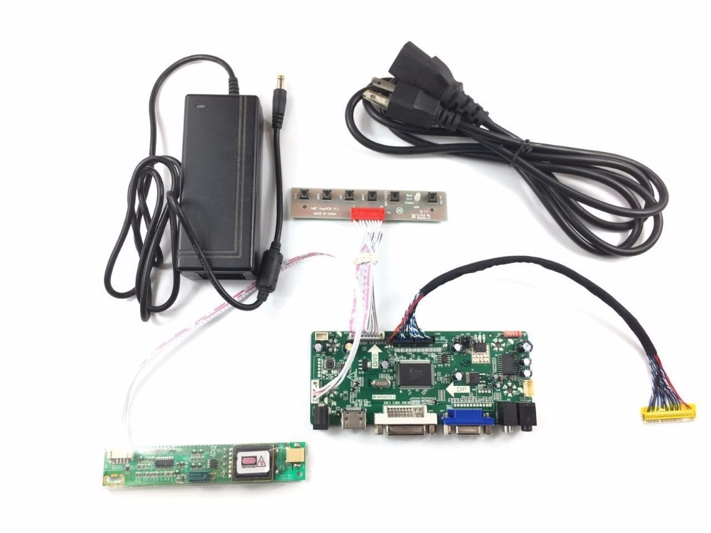 2017 New Free Shipping M.NT68676.2A HDMI DVI VGA Audio LCD LED Controller Board +12V 4A Power Adapter<br>