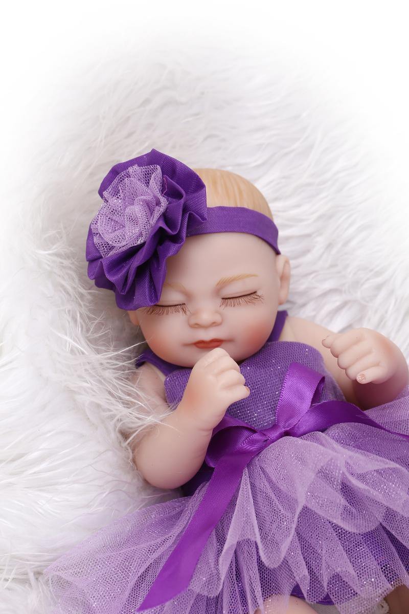 27CM 100-reborn-babies dolls  full silicone body princess girls dolls play house toys  bonecas de pano<br><br>Aliexpress