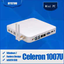 Windows XP mini pc Celeron 1007U Computer All Alloy Case Fanless Minipc barebone gigabit lan Mini Computers Mini PC Windows 7(China)