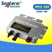 Free shipping!!WVC-260W 22-50VDC 120VAC 220VAC MPPT micro on grid inverter IP67 Power line carrier-current communication