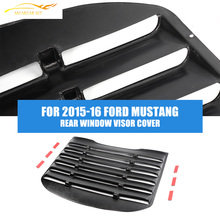 Rear Window Louver Air Vent Black Sun Shade Visor Cover for 2015-16 Ford Mustang