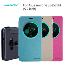 Buy sFor ASUS Zenfone 3 ZE520KL Case (5.2 inch) NILLKIN Sparkle PU Leather Case Flip Cover ASUS Zenfone 3 ZE520KL for $7.91 in AliExpress store