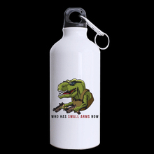 Wear Glasses of a Dinosaur Gun Custom Design Aluminum Sports Bottle Water Bottles White 400ml Travel (Two Sides Printed)(China)
