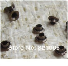 500 sets to send installation tools 5 mm Straw hat rivets Cowboy decorative nails Metallic silver Material: Copper