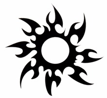 1 PCS Beauty Makeup Unisex DIY Black Sun Removable Waterproof Temporary Tattoo Body Art Stickers Make Up Cosmetic Cute Tool