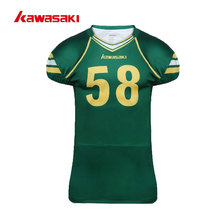 2017 Kawasaki Custom Sublimation American Football Jersey Top Men USA Collage Practice /Racing Football Shirts Jersey Plus Size(China)