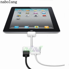 Nabolang Hot selling 1080P Dock Connector to HDMI HD TV Adapter for iPad 2 3 for iPhone 4 4S for iPod IOS 8.3(China)