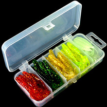 JTLURE 51pcs 5cm soft bait sea fishing tackle wobbler jigging fishing lure silicone bait soft worm shrimp jerkbait silicone fish