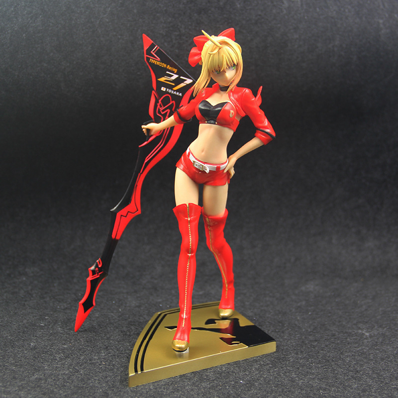 nero claudius fate saber EXTRA red Racing suits nero figure fate stay night(2)