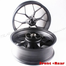 Motorcycle Front and Rear Wheel Rim  For Honda CBR1000RR 2012 2013 2014  Aluminum Alloy Moto Accessories Dark Gray