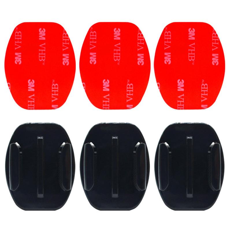 30 un monturas de almohadillas adhesivas pegajoso Curvada Plana Set para GoPro Hero 6 5 4 3 3 2 1