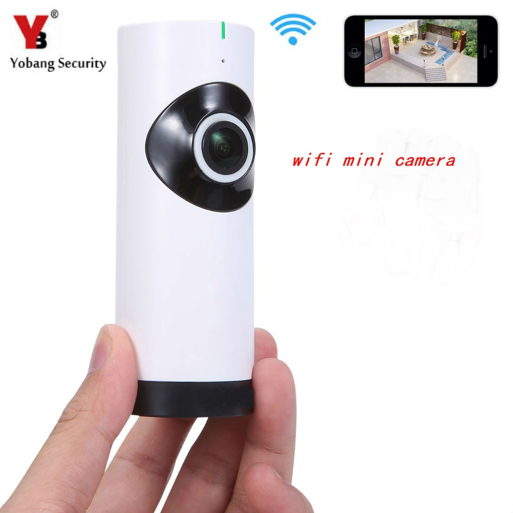 YobangSecurity 185 Degree Fisheye Len WiFi Wireless IP Camera Mini Baby Pet Monitor Home Security Camera Network For IOS Android<br>