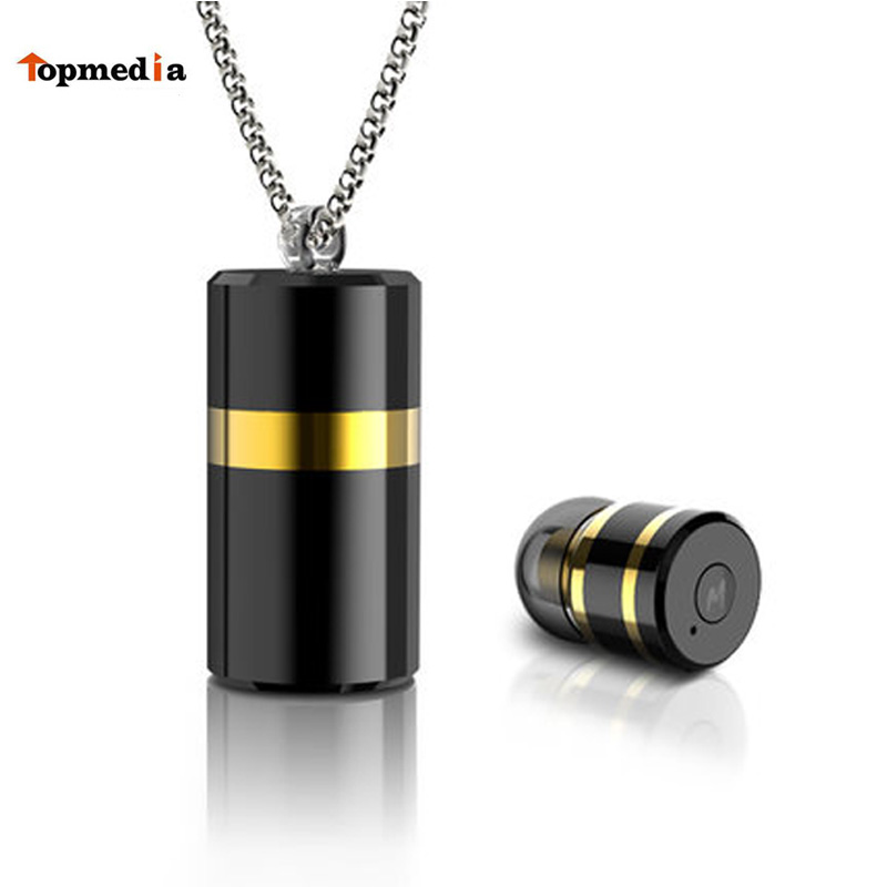 M2 Wireless Bluetooth Metal Pendant Earphone Headsets With Storage Box Necklace Earphones Headset For Phone IPhone Se 7 X Xiaomi<br>