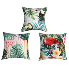 New Flamingo Birds Cushion Cover 3 Styles Flower Tropical Plant Soft Pillow Covers Pillow Case 45X45cm Bedroom Sofa Decoration(China)