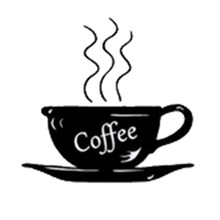 New qualified Coffee cup small decorative wall stickers(black)22*23cm(China)