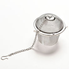 1 Pcs Stainless Reusable Mesh Herbal Ball Tea Spice Strainer Teakettle Locking Tea Filter Infuser Spice(China)