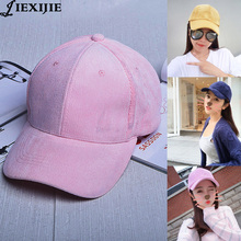 2016 Baseball CapThe new south autumn and winter Female corduroy cap Plate bending along the baseball caps Frauen Chapeau