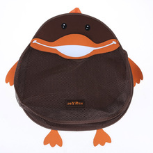 Baby Child Bath Toy Mesh Storage Bag Bath Bathtub Doll Organizer Bathroom Hanging Storage Bag Cartoon Duck Child Bath Net Bag