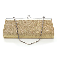 YEJIA FASHION Dazzling Evening Party Bag Women Handbag Chain Design Long Envelope Bags Elegant Lady Phone Card Bag Coin Wallet