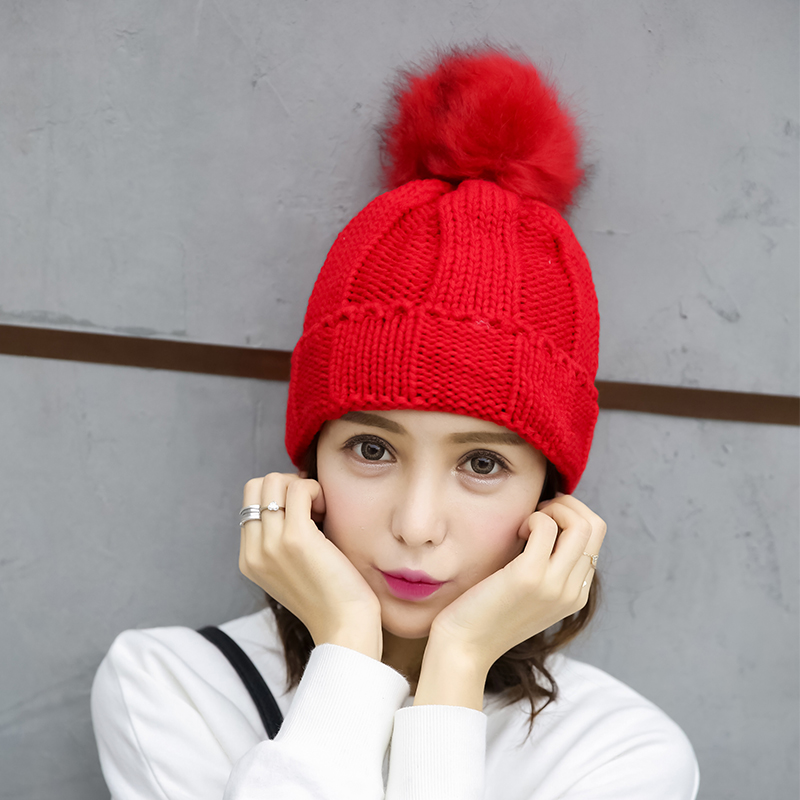 Thermal knitted hat winter casual all-match sweet pocket hat knitted hat millinery women fashion winter beret female thick hatsОдежда и ак�е��уары<br><br><br>Aliexpress