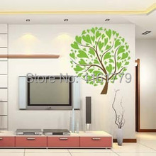 Mixed order Environmental 90*60 Water proof Removable Decal Decor Wall Paper Home Sticker Big Tree DM69-0024