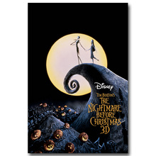 NICOLESHENTING The Nightmare Before Christmas Art Silk Poster Print 13x20 24x36inch Cartoon Movie Picture Home Decor 002