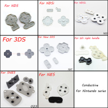10set 8 model For NDS NDSL NDSI LL XL 3DS NEW 3DS SNES NES WII Conductive Rubber Button Pad Set Replacement Part For DS Lite DSL(China)