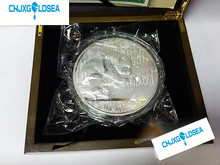2016 Year 1000g 1kg Weight China panda plated Silver coins with COA certificate for collection Animal Coin  gift present