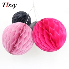 "1PC 8""(20cm)  Best Price Of Tissue Paper Honeycomb Ball Pastel Lantern Bags Decorations Supplies For Wedding Party 17 Colors"