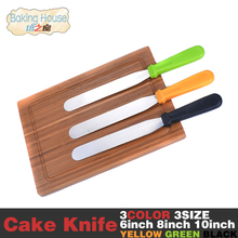 Butter Knife 6/8/10 Inch Cream Cake Stainless Steel Smooth Knife For Cake Baking Cooking Tools(China)
